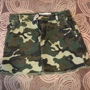 Zara kids army denim skirt